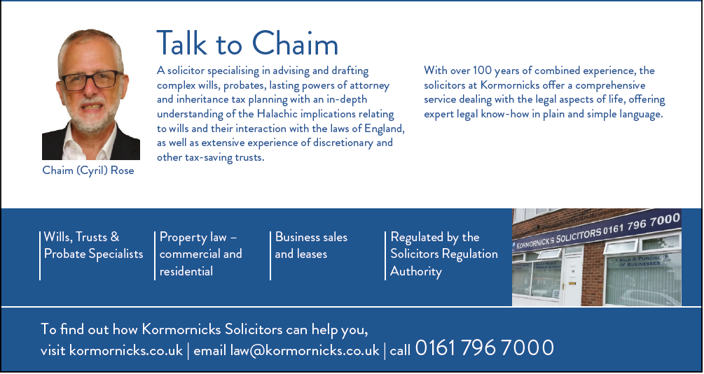 Chaim (Cyril) Rose - A solicitor specialising in advising and drafting complex wills, probates, lasting powers of attorney and inheritance tax planning